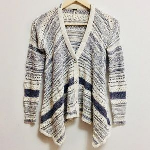Free People Asymmetrical Knitted Cardigan (xs/tp)